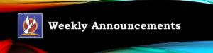 Announcements 12/4/16